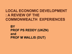 local economic development : a review of the
