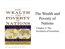 Wealth and Poverty of Nations: Invention of Invention