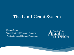 Land-Grant System - Texas A&M University