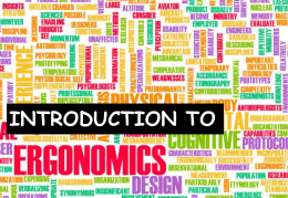0 1 – introduction to ergonomics