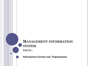 5. Management information system Part-II