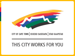 Keep saving water - City of Cape Town