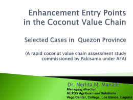 Annex 08 Enhancement Entry Points in the Coconut Value Chain