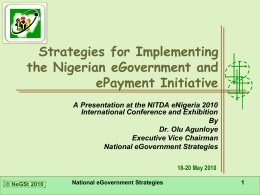 Strategies for Implementing the Nigerian e