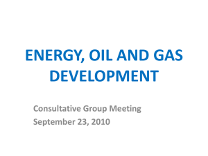 Energy, Oil And Gas Development