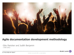 Agile documentation development methodology