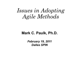 agile - Dallas Fort/Worth - Association for Software Engineering