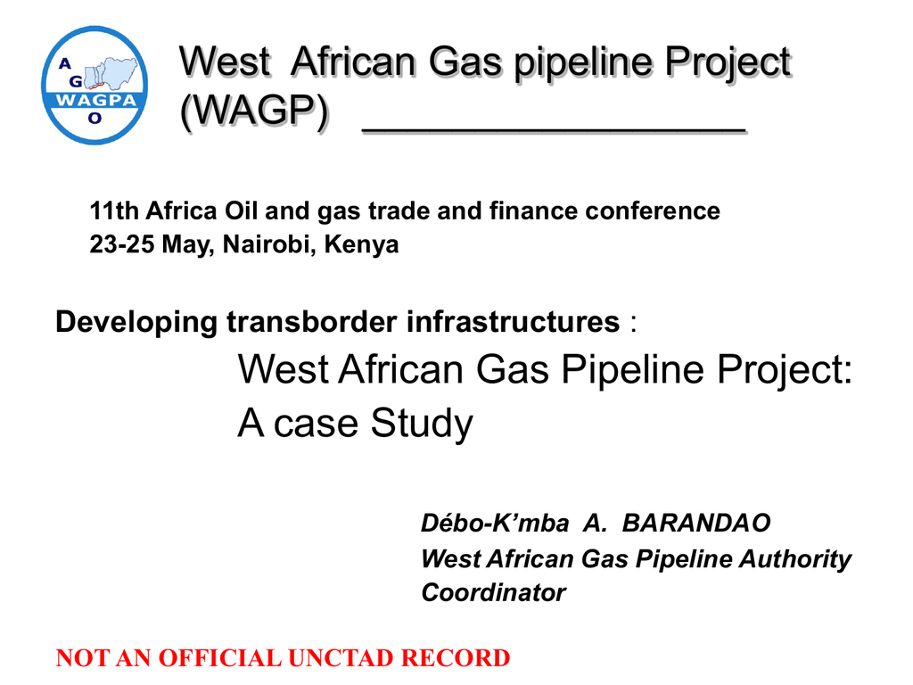 A case study of the West African Gas Pipeline project