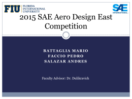 2015 SAE Aero Design East Competition