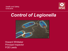 APSE – legionella presentation without notes – Howard Whittaker (2
