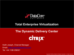 DataCore Overview Presentation
