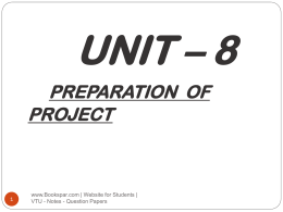 Unit-8-Preparation-of-Project