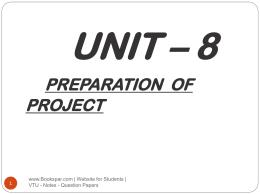Unit-8-Preparation-of-Project