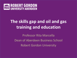 The skills gap and oil and gas training and education in - Granite-PR