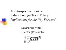 Implications for the Way Forward - CUTS Centre for International