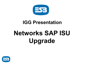 DRAFT ESB Networks SAP Upgrade presentation v1.0