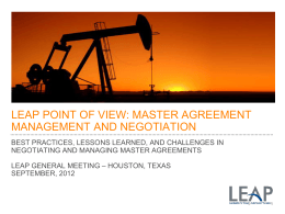 Best Practices for Master Agreement Management