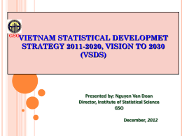 Vietnam Statistical Development Strategy 2011-2020