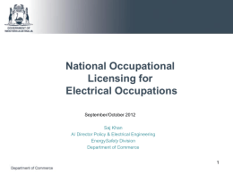 NOLS Consultation sessions 2012 Electrical