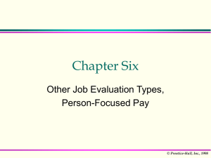 Person-focused pay
