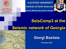 Current Seismic Network of Georgia