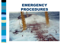 Emergency Procedures SHIPONBOARD