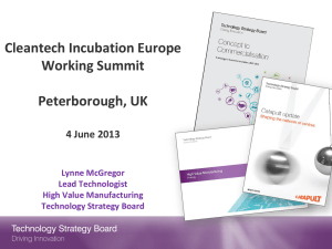 Technology Strategy Board - Cleantech Incubation Europe
