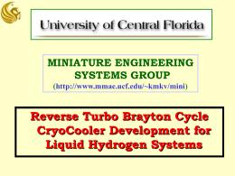Reverse Turbo Brayton Cycle CryoCooler Development for Liquid