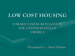 LOW COST HOUSING - Sewa International USA