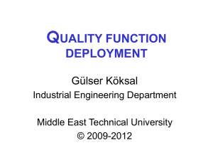 QFD - Middle East Technical University OpenCourseWare