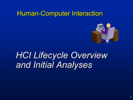 HCI Lifecycle