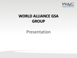 WORLD ALLIANCE GSA GROUP