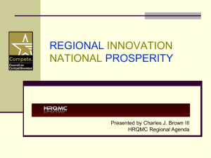 Regional Innovation, National Prosperity