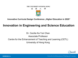 Innovation in Engineering and Science Education
