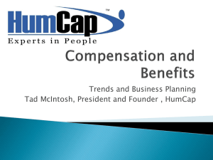 Tad McIntosh - HumCap Comp and Benefits Trends 2011 for