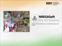 NREGAsoft The ICT Solution A Ministry of Rural Development and