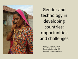 Gender, ICT and International Development