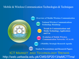 Technology Trends and the ICT Market