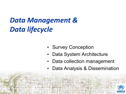 Data Management & Data lifecycle