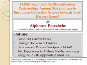 IAR4D Approach for Strengthening Partnerships Among