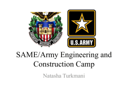 SAME/Army Engineering and Construction Camp
