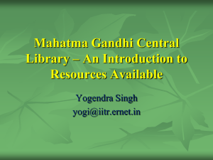MGCL PPT - Mahatma Gandhi Central Library