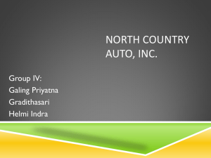 North Country Auto, Inc (compilation)