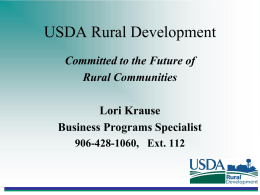 USDA Rural Development - Lake Superior Community Partnership