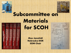 Subcommittee on Materials for SCOH Presentation