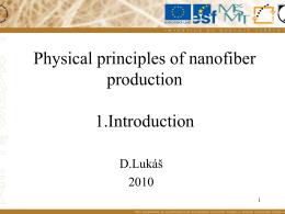 Fyzikální principy elektrostatického zvlákňování
