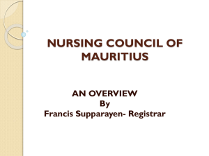 Workshop Presentation - Nursing Council of Mauritius