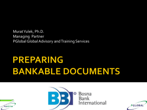 how to prepare bankable document