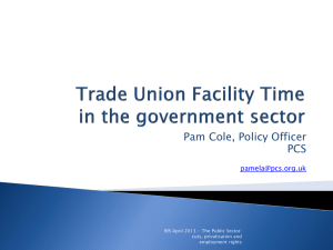 Pamela Cole Trade Union Facility Time