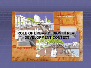 Lecture 2 - Department of Urban And Regional Planning